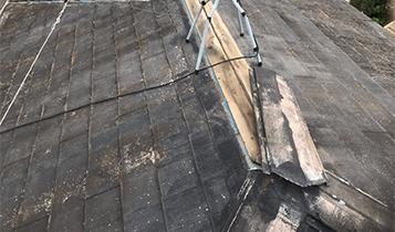 屋根漆喰剥がれ